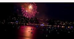 FIREWORKS 4 (Detective Steve) Tags: longexposure reflection water boats lights bay fireworks availablelight tacoma 4thofjuly