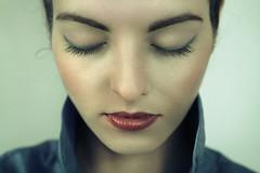 Amore (valbond) Tags: woman eye beautiful close think creative young makeup