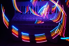 Accordion 2 (binaryCoco) Tags: music lightpainting rainbow accordion led musik regenbogen synesthesia akkordeon synaesthesia leuchtdiode synästhesie colourartaward creativecomments