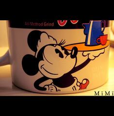 Minnie i want .. (M ï M ï) Tags: blue red baby black cup coffee please sweet disney want mug minnie