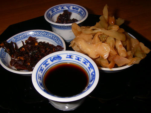 Chinese Slow-cooked Pork: condiments