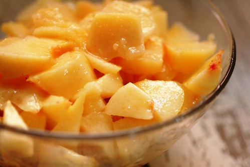 Chunks of peaches