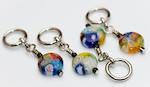 Handmade Stitch Markers - Small Round Millefleur