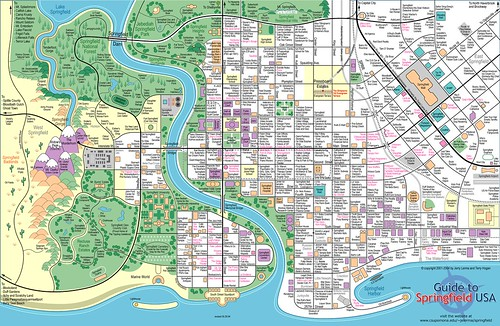 Mapa Springfield