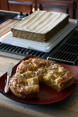 Lemon Almond Torta and Banana Cake