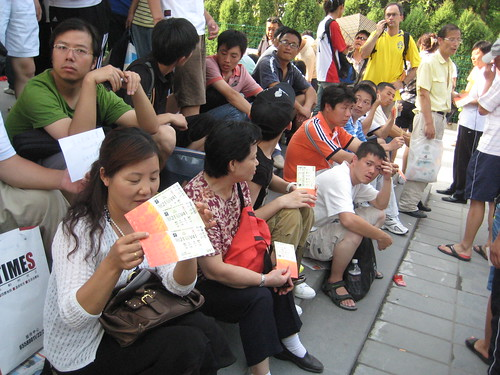 Beijing Olympic ticket scalpers