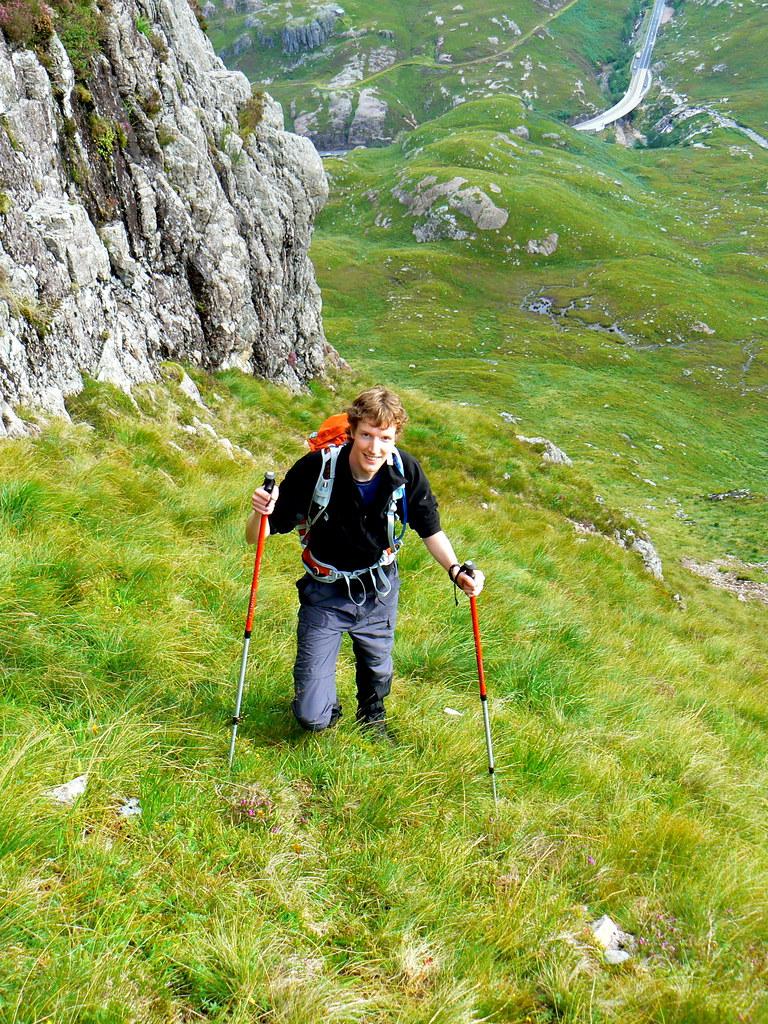 Climbing up from Glencoe
