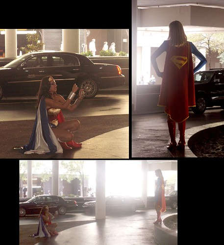 Wonder Woman Photographs Supergirl