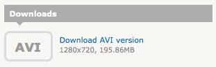 Vimeo download icon for the original video file