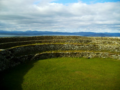 An Ghrianan Fort County Donegal Ireland (seanfderry-studenna) Tags: ireland panorama irish mountains field grass stone stairs countryside ancient scenery view fort country hill passages an vista walls defensive hilltop donegal neolithic grianan ghrianan seannina seanfderrystudenna
