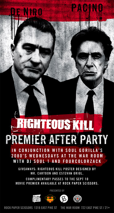 Righteous Kill Movie Premier After Party