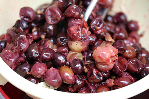cooked grapes
