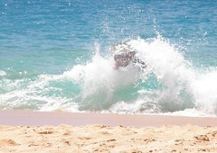 Skim Boarder at Big Beach, Maui (sharkzan) Tags: travel vacation beach water hawaii islands sand surf wave maui 2008 boogieboard bigbeach