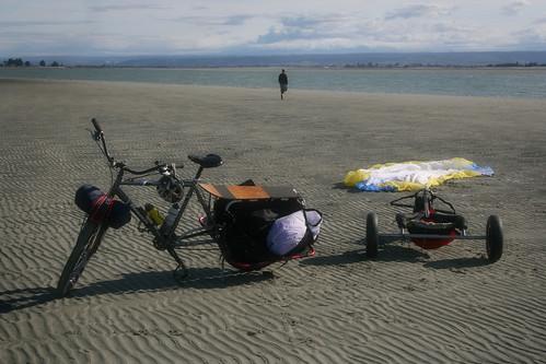 Xtracycle & Kite Buggy @ the Beach