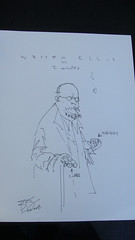 Warren Ellis in two minutes (Ben Templesmith) Tags: portrait warrenellis