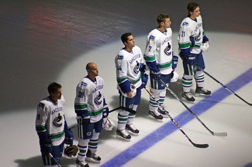 Canucks Starting Line