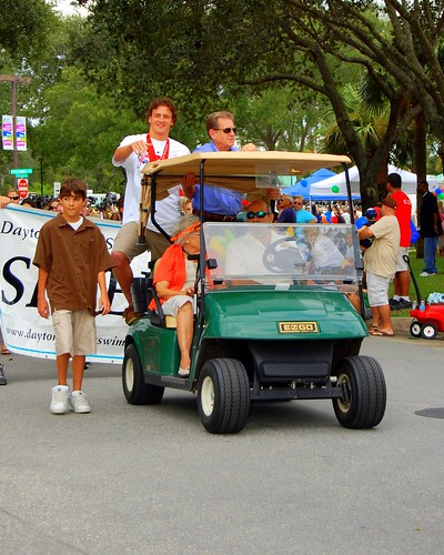 Well anyway, here's Ryan Lochte at a parade in Port Orange,