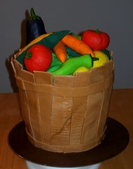 Vegetable Basket (Happy Birthday Cakes) Tags: cake tomato pepper corn basket eggplant vegetable squash carrot sweettreats