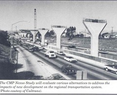 Harbor Freeway Transitway (Metro Transportation Library and Archive) Tags: hovlane lactc dorothypeytongraytransportationlibraryandarchive highoccupancyvehiclelanes railexterior harborfreewaytransitway historypin
