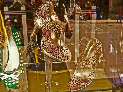 Leopard skin, gold, jewel, platform, heels