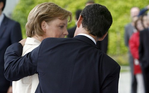 Angela Merkel and Nicholas Sarkozy