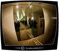 Me & Infinity :: Fisheye (Erroba) Tags: camera reflection me photoshop canon reflections rebel mirror lift belgium belgique infinity flash tripod elevator mirrors belgi sigma tunnel fisheye tips remote erlend hdr cs3 10mm 3xp photomatix tonemapped tonemapping xti 400d erroba robaye erlendrobaye