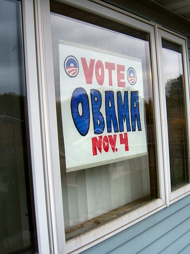 Homemade Obama Sign
