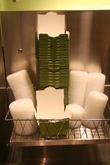 the Noodles & Co take-away boxes