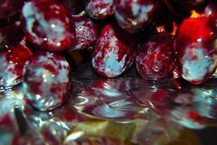 Reflection (Monica Palermo) Tags: red food fruit manipulation uva frutta grape acini raspo acino uvarossa