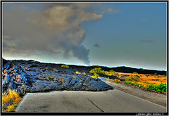 Dead End.    Lava flow over the road. (j glenn montano 3) Tags: road point dead flow island hawaii lava big closed district glenn over craters chain end montano kau supershot justiniano colourartaward kupapau