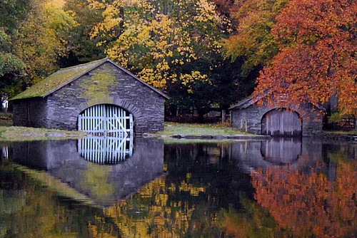 Boathouses on Coniston