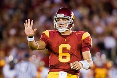 USC quarterback Mark Sanchez (Eric Wolfe) Tags: california usa college sports berkeley losangeles football unitedstates quarterback cal coliseum universityofsoutherncalifornia ncaa usctrojans pac10 marksanchez californiabears original:filename=20081108093jpg
