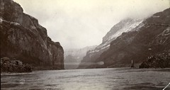 In the Gorge of theYangzte River, China - 1910's (bcgreeneiv) Tags: china blackandwhite bw vintage river gorge yangtze changjiang