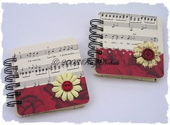 Vintage Music Sheet Post It Holders