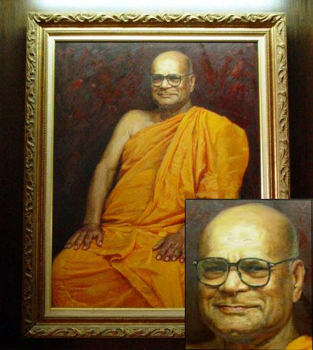 Wesak Day @ Buddhist Maha Vihara, Brickfields 2005 - 16 portrait of Ven Dr K Sri Dhammananda