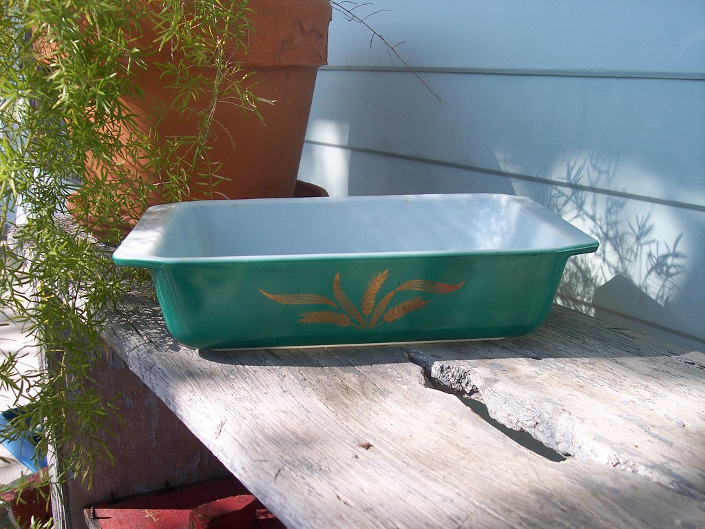 Emerald Green Spacesaver w Gold Wheat