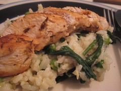 Lemon Thyme Chicken w/ Spinach & Pea Pilaf 1