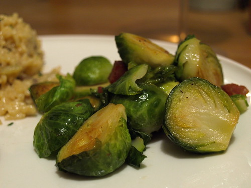 brussel sprouts with Virginia ham