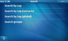 Search submenu