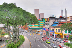 chowkit view (Naxief) Tags: road trees color canon taxi best malaysia highfive kl hdr klcc amateurs 18200mm photomatix 50d interestin abeauty amateurshighfive invitedphotosonly naxief