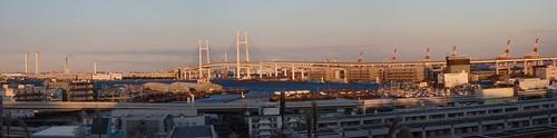 Panorámica del puerto de Yokohama