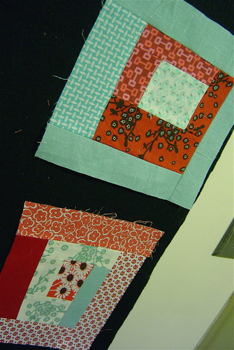 Beginnings of mini quilt