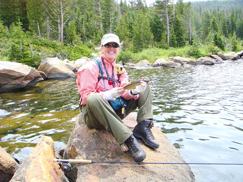 the author with a Wyoming Cutthroat