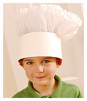 DIY Chef's Hat (Courtesy Family Fun Magazine)