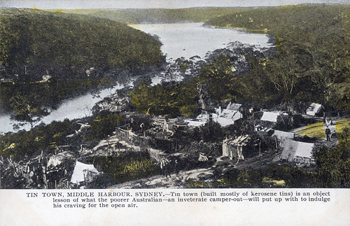 Mosman Library blog: Tin town, Middle Harbour
