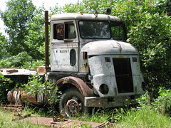 """Old Pete"" (dbro1206) Tags: old abandoned truck rust diesel weathered arkansas resting decayed caboverengine"