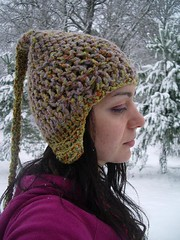 pixie hat (Highland Fairy) Tags: winter wool hat highlands crochet pixie