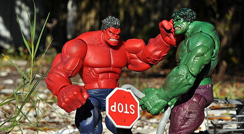 Hulk, Red Hulk, Stop Sign
