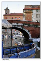 Blu... (Ushu@ia) Tags: bridge italy boat nikon barca italia ponte tuscany toscana 1001nights d90 nikonflickraward