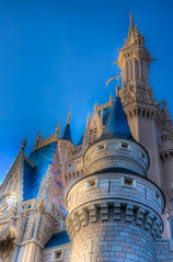 Magical (its like a calll) Tags: world blue building brick castle architecture fairytale canon orlando florida magic dream disney walt hdr themepark hbomb cinderellacastle disneysmagickingdom kindgom 40d photoshopcs3 lightroom2 photomatix31